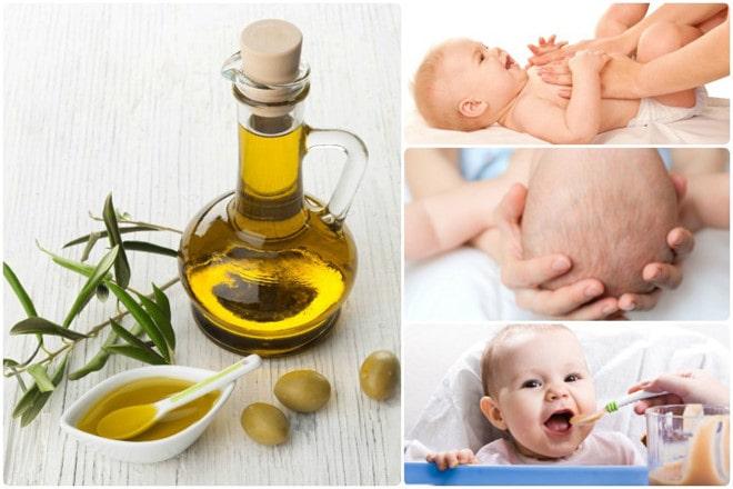 Có nên massage cho bé bằng dầu ôliu