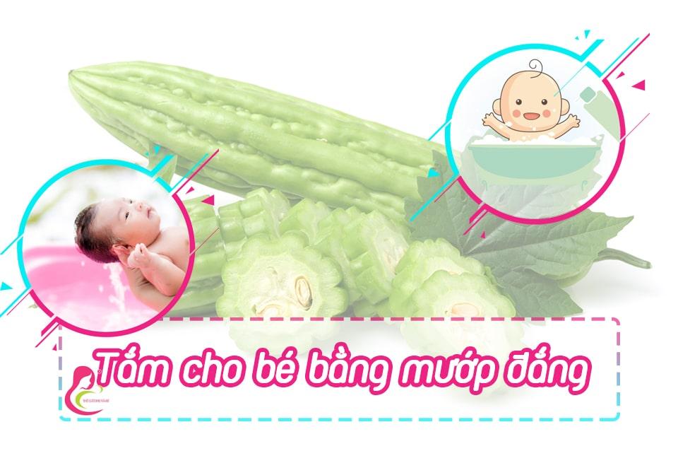 Lưu ý khi tắm mướp đắng cho trẻ sơ sinh