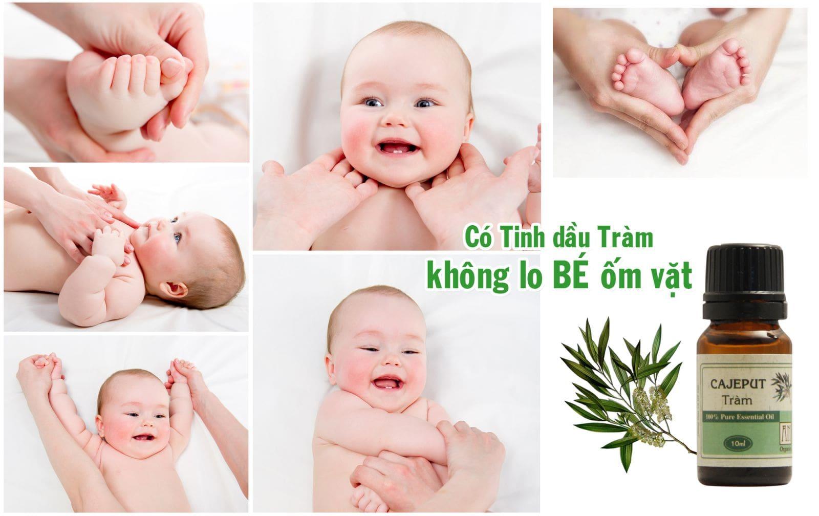 Tắm cho trẻ sơ sinh bằng tinh dầu tràm