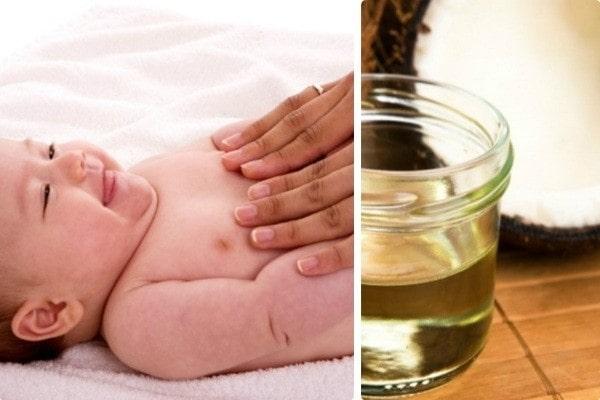 dùng dầu massage nào sẽ tốt cho da bé