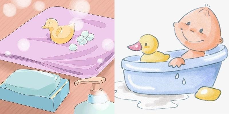 dụng cụ cần thiết khi tắm cho bé