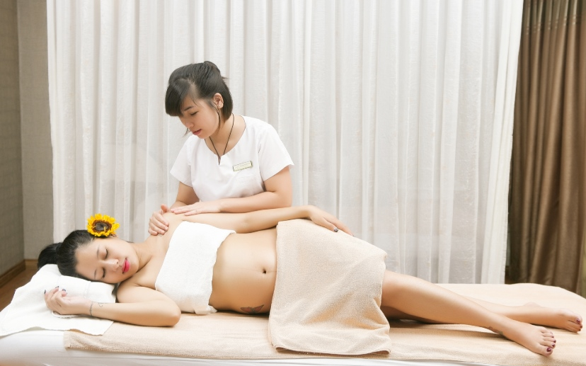 massage bà bầu